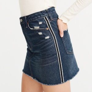 Abercrombie Side Stripe Denim Skirt